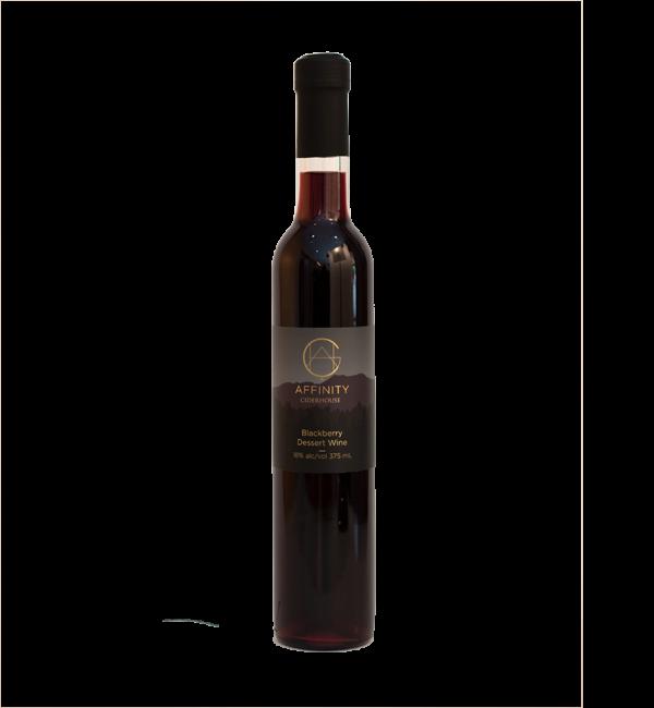 Bottle of Blackberry Dessert Wine