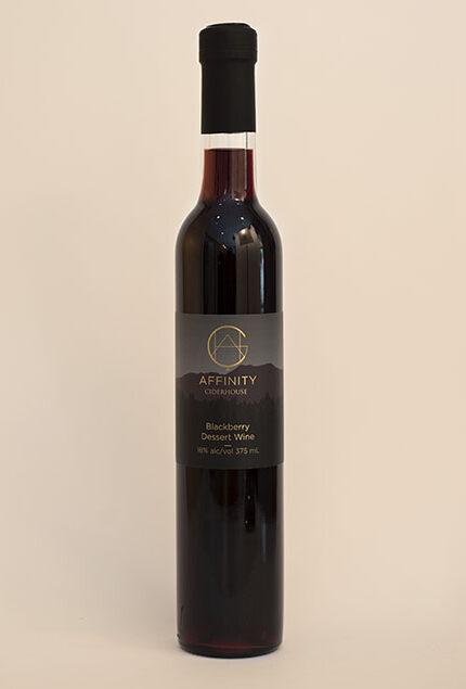 Bottle of Blackberry Dessert Wine in 375 ml